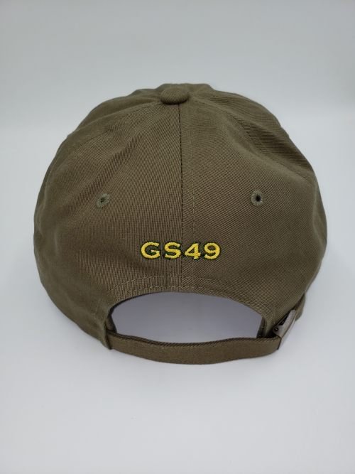 GS49 Pot Leaf Dad Hat Green Back