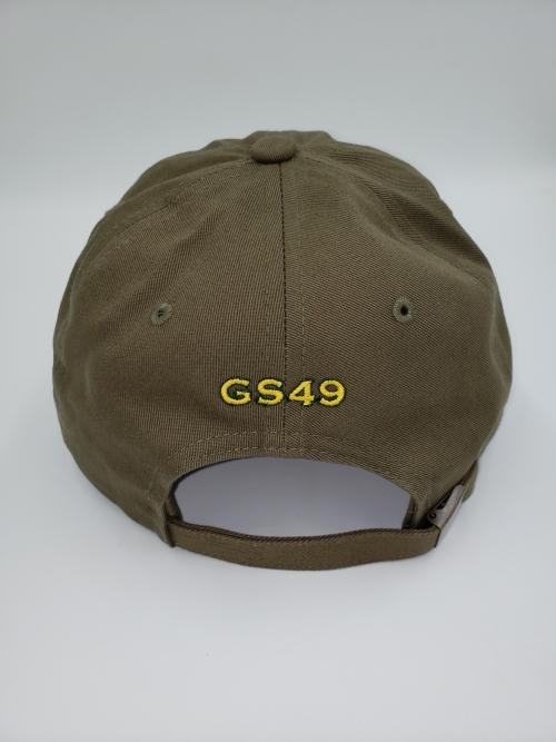 GS49 Pot Leaf Dad Hat Green Back