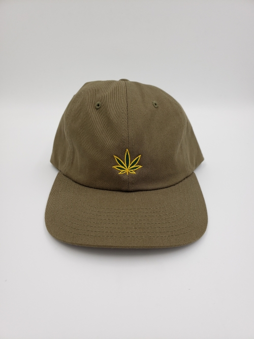 GS49 Pot Leaf Dad Hat Green